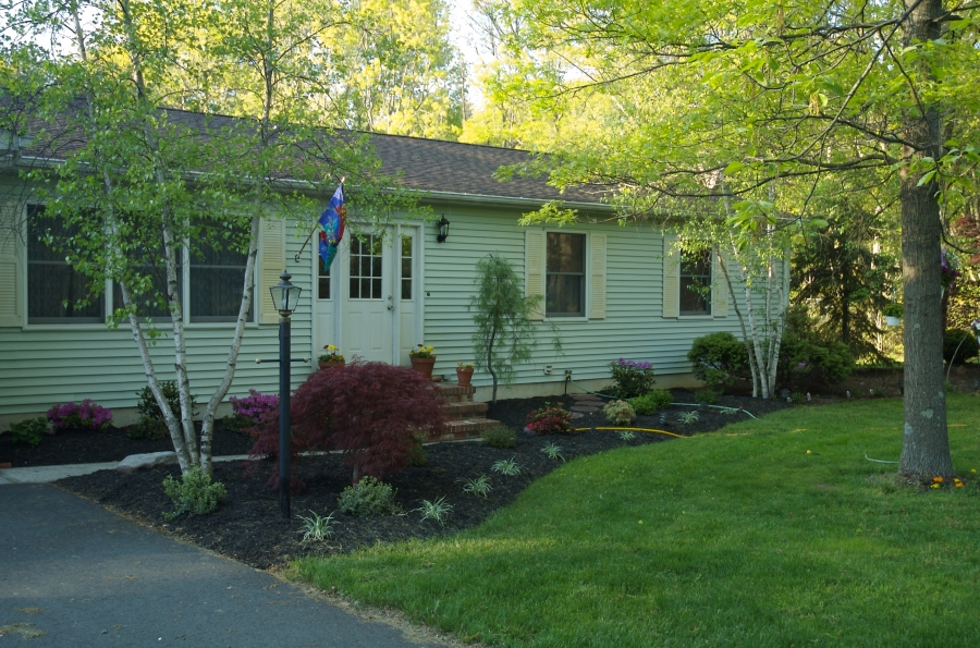 Even a minor landscaping job can make a huge difference to your home's curb appeal.  Image: mnapoleon