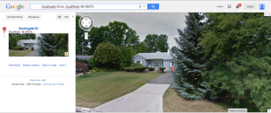 """The Google Maps """"Street View"""" feature allows you to see what a house looks like from your computer."""