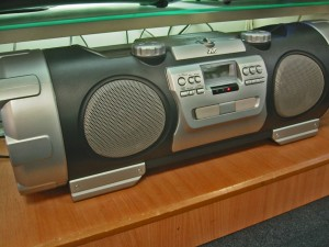 Simply having a boombox playing in your vacant home can help keep vandals out.  (Image: _sarchi/Flickr)